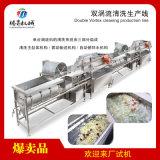 大型双涡流洗菜机震动沥水生产线定制