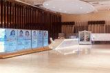 新中式木纹铝格栅背景墙 墙身隔断铝方通背景墙