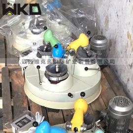 矿石研磨机 三头玛瑙研磨粉碎机 实验室三头研磨机
