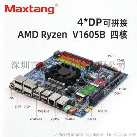 大唐主板AMD四核工业主板四屏显示双网口itx单板
