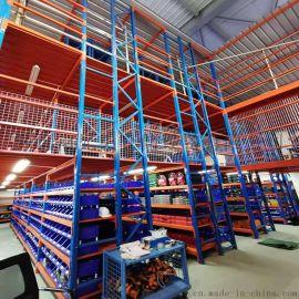 阁楼式仓储货架 组由组装 搬厂可重复使用