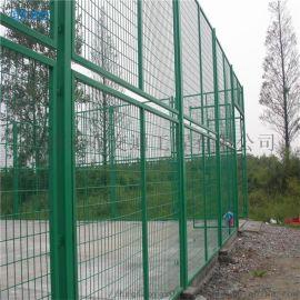 江西禾乔批发圈地养殖绿色铁丝隔离栏 双边丝防护网 公路铁路护栏网