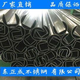 珠海不锈钢凹槽管厂家,生产304不锈钢凹槽管规格表
