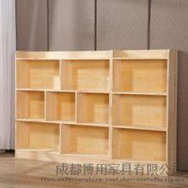 德阳幼儿园书架定制 绵阳实木儿童书架厂家
