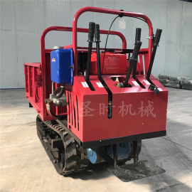新型养殖场拉粪手推农用车参数全地形小型履带式运输车