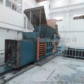 120吨全自动卧式液压打包机 河南卧式秸秆打包机