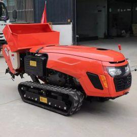 履带式小型田园管理机 家用犁地开沟除草机