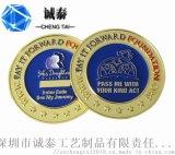 烤漆紀念幣定製,深圳美軍挑戰硬幣,活動宴會紀念品