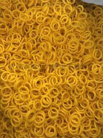 厂家现货供应黄色硅橡胶密封圈 耐高温密封圈o型圈