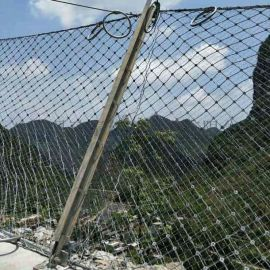 被动钢丝绳网 被动防护网厂家