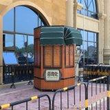 售賣亭 木製防腐圓柱形耐用售賣亭