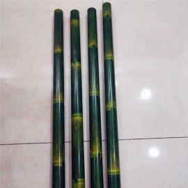 100竹节仿木纹铝圆管规格 80直径仿竹节铝管厂家