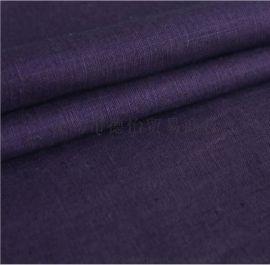 欧美时尚亚麻棉染色混纺亚麻棉混纺面料