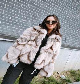 新款热销短款皮毛一体狐狸毛大衣代理四季调换