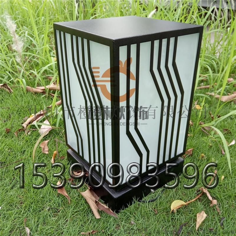 現代簡約方形柱頭燈不鏽鋼落地燈亞克力矮地燈廠家直銷