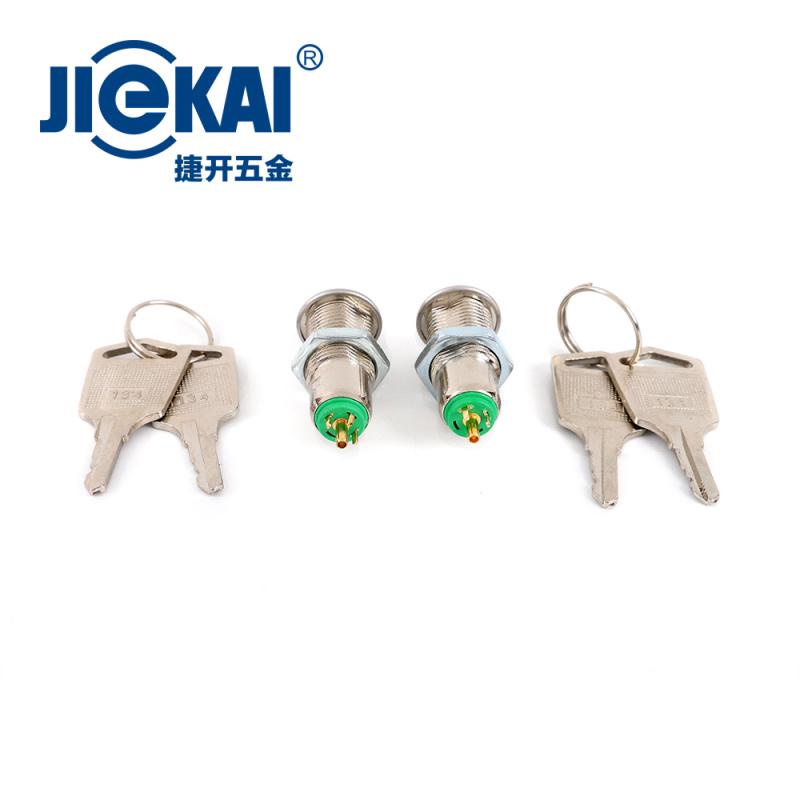 厂家直销 12mm电源锁 JK016 锌合金锁