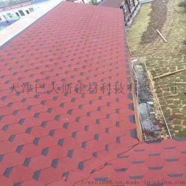 安徽自粘沥青瓦砖屋顶防水隔热建筑用别墅阳光房油毡瓦