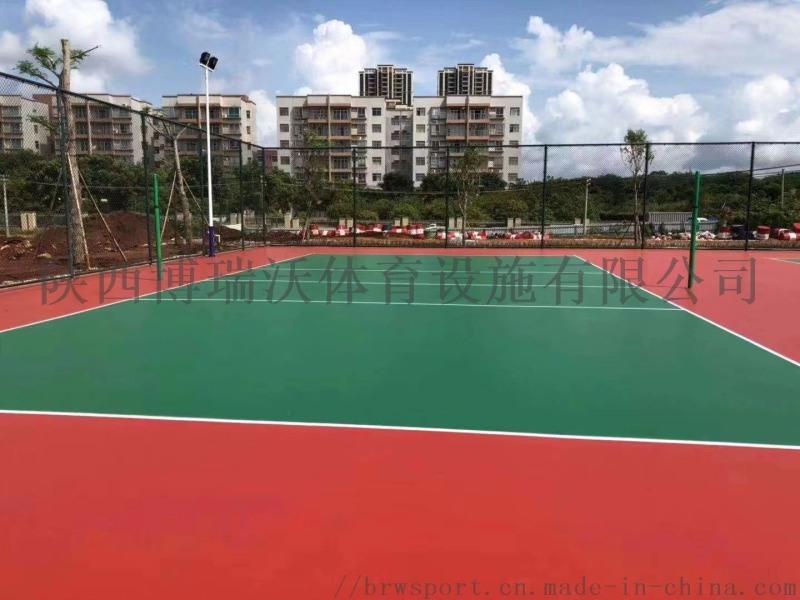 广州塑胶PVC羽毛球场建设室内羽毛球场厂家预算