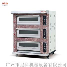 尼科烘炉 广州式电烤炉 三层六盘烤炉 热风循环炉