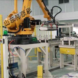 吉林氧化铝机器人码垛系统 袋料高位码垛机供应商