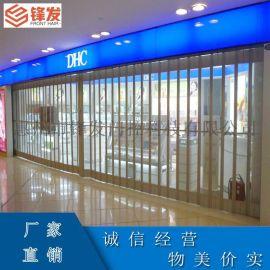 惠州商用水晶门铝合金堆积门手动平开门