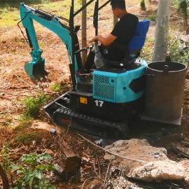 林场树木采伐挖树机 小挖掘机报价大全 六九重工 全
