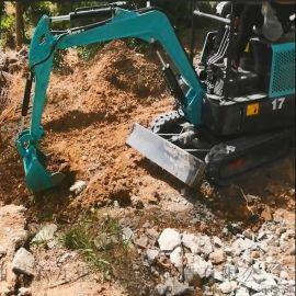 水挖机图片 小型农用轮式挖掘机 六九重工 园林绿化