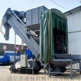 自动行走卸灰机 集装箱粉煤灰中转设 无尘拆箱机