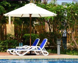 定做室外藤编沙滩椅带太阳伞