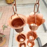 純銅花杯雨鏈生產廠家 庭院裝飾排水鏈