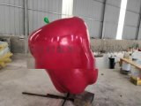 打造一个玻璃钢蛇果雕塑为果园宣传造势