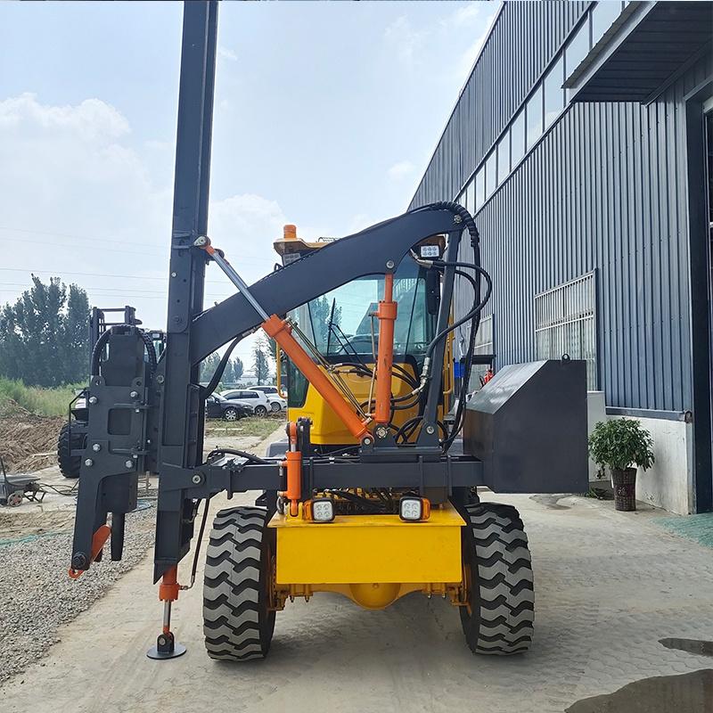 护栏打桩机高速公路护栏打桩机装载式公路护栏打桩机