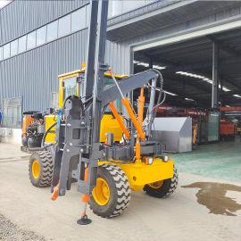 高速护栏打桩机 装载公路护栏打桩机 小型液压打桩机