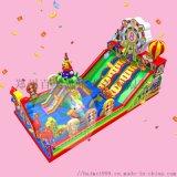 款式多样的充气城堡广场庙会摆摊经营