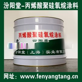 丙烯酸聚硅氧烷涂料适用水箱水闸防水防腐蚀工程