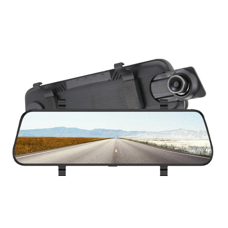 9.66寸全面屏前後高清流媒體後視鏡行車記錄儀