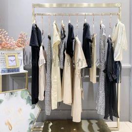品牌女裝折扣熠靜精品連衣裙視頻看貨