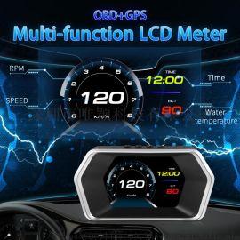 多功能汽车抬头显示器P17 obd投影仪