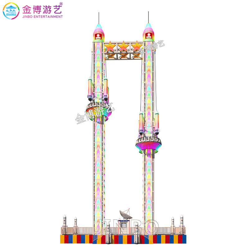LED灯装饰航空材质座舱 气压系统双塔旋转飞梭定制