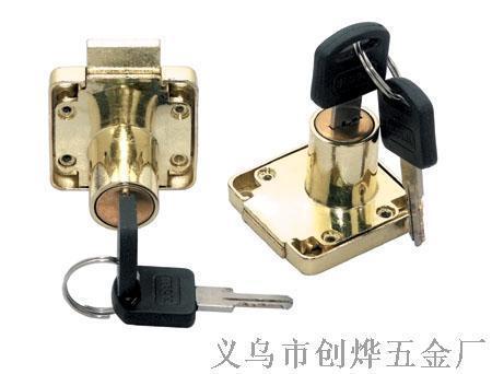 抽屉锁家具锁橱柜锁锌合金锁叶片锁