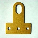 铝合金防盗窗T型配件金黄色固定配件安装片