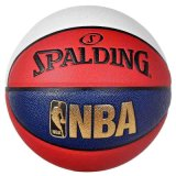 Spalding斯伯丁篮球街头花式74-655Y耐磨PU真皮室内外通用球