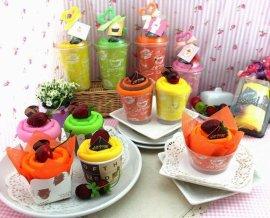 廠家直供訂制廣告禮品蛋糕造型環保滌綸購物袋