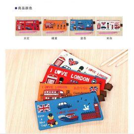厂家定做笔袋广告促销礼品pu笔袋可爱卡通袋定制LOGO