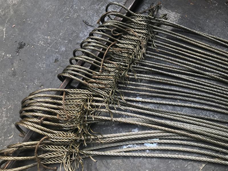 起重吊索具 手工插编钢丝绳索具 钢丝绳琵琶头 钢丝绳套14mm*6m