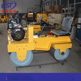 山东现货驾驶式压路机 座驾式双钢轮压路机厂家 小型压路机热销