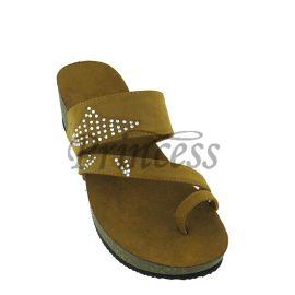 D0018欧美新款PU皮套拇指铆钉镶钻坡跟厚底女式凉拖鞋