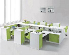 广州白云区绿色办公家具 时尚双人优雅办公桌 简约板式绿色办公桌