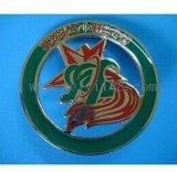 高档烤漆胸章,五金徽章,珐琅徽章