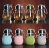 创意玻璃杯便携可爱学生水杯女随手杯韩国企鹅杯带盖茶杯过滤杯子